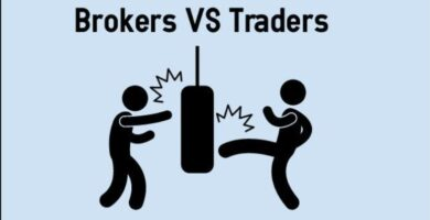 What is the difference between a trader and a broker